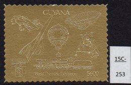 Guyana 1992 Genoa  Gold Perf  Concorde, Zeppelin, Train, Formula 1 Motor Racing, Apollo.  MNH. - Concorde