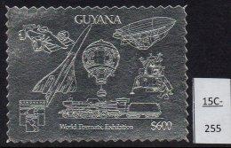Guyana 1992 Genoa  Silver Perf  Concorde, Zeppelin, Train, Formula 1 Motor Racing, Apollo.  MNH. - Concorde