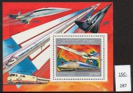 Comoro Comores 1990 Concorde Train TGV Deluxe M/s Perf. MNH. - Concorde