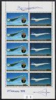 North Korea 1987 Concorde Tu-144 Perf  Sheetlet/10. MNH - Concorde
