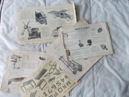 Lot De 7 Documents Meccano Pochette 6 - Meccano