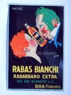 Vecchia Etichetta RABAS BIANCHI RABARBARO Bianchi BRA TORINO Old Label Mauzan Illustratore Liquore - Etichette