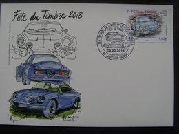 17940- CP Maximum  Fête Du Timbre 2018 Thème Voiture, Alpine Renault - Automobile