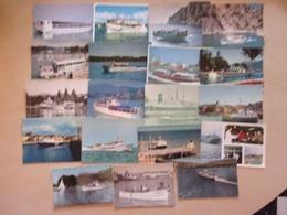 LOT DE 19 CP DE BATEAUX PROMENADE - FERRIES - BATEAUX RESTAURANT - Ferries