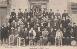 CLEREY - SUPERBE CARTE DE GROUPE DE LA FANFARE  DE CLEREY 1901 - PEU COURANTE - - France