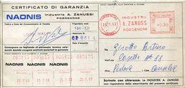 32121 Italia, Red Meter/freistempel/ema/ Pordenone 1963 Industrie Zanussi , Circuled - Poststempel - Freistempel