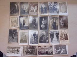 LOT DE 22 CPA  DE MILITAIRES ET GROUPES REGIMENTAIRES Dont 19 A IDENTIFIER - Guerre 1914-18