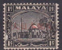 Japan Malaya Selangor Occupation 1943 1c Black Used, Fault - 1926-89 Empereur Hirohito (Ere Showa)
