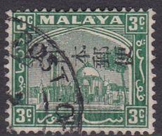 Japan Malaya Selangor Occupation 1943 3c Green Used - 1926-89 Empereur Hirohito (Ere Showa)
