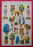 3 Cartons à Découper Adorable Poupée à Habiller Adorable Dolls Cardboard Cutting  éditeur Imagerie Epinal - Old Paper