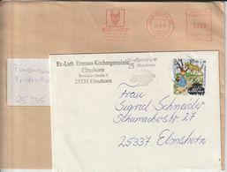 T 148) Der Wolf: Briefmarke BRD Mi# 3215 EF, AFSt Hamburg 1993 Reisswolf (Wolf, Papier, Vernichtung) - Wild