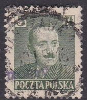 Poland 1950 Revaluation Of Currency Hand Overprinted, 5 Zt, Green - Usados