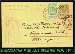 Belgien - Alte Ganzsache Von Antwerpen Nach Farnroda - Ganzsachen