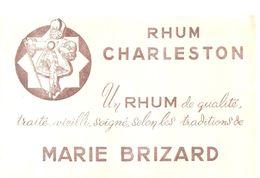 Buvard Rhum Charleston Un Rhum De Qualité, Traité , Veilli,  Soigné, Selon Les Traditions De Marie Brizard - Liquor & Beer
