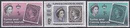 Turks Und Caicos 1967 Postwesen Philatelie Philately Briefmarken Stamps Royals Victoria Elisabeth, Mi. 214-6 ** - Turks & Caicos