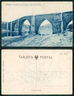 ESPAÑA [OF # 16185 ] - ORENSE PUENTES ROMANO Y NUEVO SOBRE EL RIO MIÑO - Orense