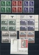 40514) GENERALGOUVERNEMENT Einheiten - Lot Postfrisch - Besetzungen 1938-45