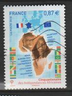 """FRANCE ,N°4496 """"CINQUANTENAIRE DES INDÉPENDANCES AFRICAINES"""" - 2010-.. Matasellados"""