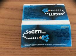Pochette D'allumettes SEITA « SOGETI LE GROUPE DE SOCIETES DE SERVICES EN INFORMATIQUE» - Boites D'allumettes