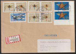 T 174) BRD 1546,1547 W Zd 15 (3) Libellen; 1644 (2) FN 1 Europa (Briefausschnitt) - Insects