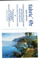 Petit Calendrier De Poche -   2003     -      Riviera  Peinture Huile  -   Fabric'Or     Reims - Calendarios