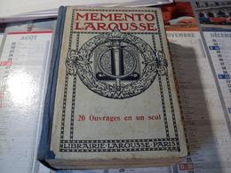 MEMENTO LAROUSSE. ANNEES 30 / 40. PREMIER PLAT A LA TORCHE 900 GRAVURES / 82 CARTES DONT 50 EN COULEURS / 90 TABLEAUX. - Dictionaries