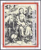 Nevis 1993 Religion Christentum Weihnachten Christmas Kunst Arts Kultur Gemälde Paintings Albrecht Dürer, Bl. 69 ** - St.Kitts Und Nevis ( 1983-...)