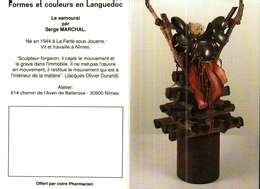 Petit Calendrier De Poche -   1993     -   Formes Et Couleurs En Languedoc    LE SAMOURAÏ - Calendari