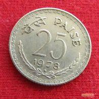 India 25 Paise 1978 B Inde Indien Indies Indie - Inde
