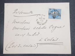 FRANCE - Enveloppe De Paris Pour Calais En 1872 , Affranchissement Type Cérès , Oblitération étoile 1 - L 15202 - 1849-1876: Période Classique