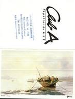 Petit Calendrier De Poche -   1988  Oberthur   -  Illustration Noury  Peinture   Barque - Calendriers