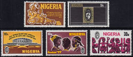 B0567 NIGERIA 1977, SG 361-5 World Black And African Festival Arts And Culture,  MNH - Nigeria (1961-...)