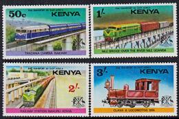 A5406  KENYA 1976,  SG 66-9 Railway Transport,  MNH - Kenia (1963-...)