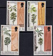 A0536 BRITISH HONDURAS 1970, SG 291-4  Indigenous Hardwood Trees,  MNH - British Honduras (...-1970)