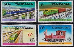 A0523 UGANDA 1976, SG 173-6  Railway Transport,  MNH - Uganda (1962-...)