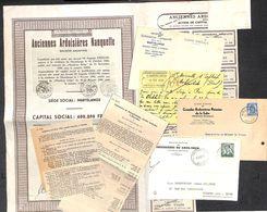 Petit Lot - Ardoisières Nanquette, De La Salm, Gros-Thier (action, Carte Postale..) - Belgique