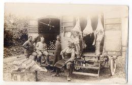 Carte Photo Guerre 1914-18 - Soldats Bouchers - Quartiers De Viande - WW1 - Guerre 1914-18