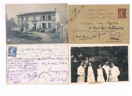 17 CARTE PHOTO COURCOURY MAISON DU DOCTEUR PIERRE NATIER + PHOTO A BICETRE + ENTIER POSTAL - Saintes