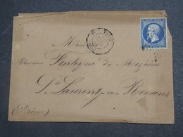 FRANCE - Enveloppe De Paris Pour Saint Laurent En Royans En 1856 , Oblitération étoile Sur Type Napoléon - L 15207 - 1849-1876: Période Classique