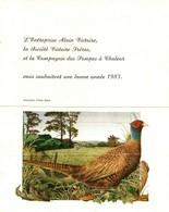 Petit Calendrier De Poche -   1983     Illustration   LE FAISAN - Calendriers