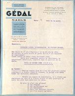 SA Gédal Namur (Fabrication Dalles Pavage...publicité) - 1950 - ...