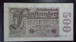 Deutsches Reich 500  Mio. Mark  ( 1.9.1923) ( Rosenberg 109 D/ Pick 110) - [ 3] 1918-1933: Weimarrepubliek