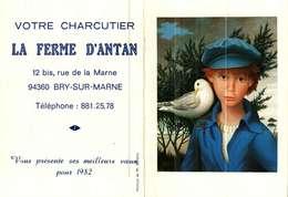 Petit Calendrier De Poche -   1982      L'enfant Et La Colombe  Peinture - Calendriers