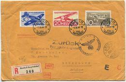 1771 -  Flugpost 1.9.1944 - Sehr Seltener, Zensurierter FDC Nach Bruxelles (Belgien) - FDC