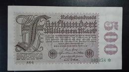 Deutsches Reich 500  Mio. Mark  ( 1.9.1923) ( Rosenberg 109 D/ Pick 110) - [ 3] 1918-1933 : Weimar Republic