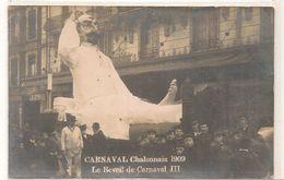 Chalon Sur Saone - Carnaval - 1909  - Le Réveil De Carnaval III  - Boulevard Republique -  Rare -  CPA° - Chalon Sur Saone