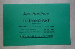 Buvard Publicitaire   Etude Généalogique H. Tranchant Paris / Tours - Buvards, Protège-cahiers Illustrés