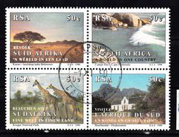 Zuid Afrika 1990 Mi Nr 804 - 807 Toerisme,  Giraf - Gebruikt