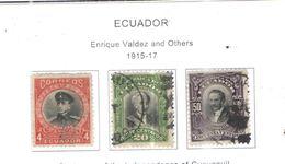 Ecuador PO 1915/17 Valdez Scott.220/222 See Scans On Scott.Page - Ecuador