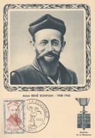 Carte  Maximum  1er  Jour   FRANCE    HEROS    DE   LA   RESISTANCE  Abbé  René  BONPAIN   PARIS  1960 - Cartes-Maximum